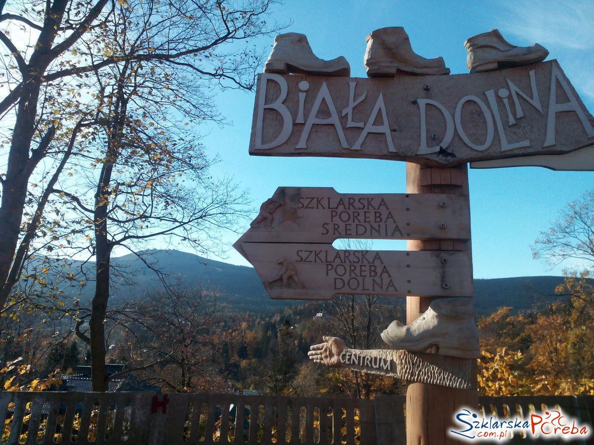 Drogowskaz Biała Dolina