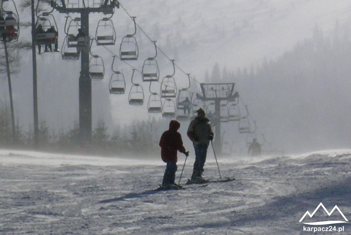 trasa wyciągu narciarskiego na Kopę