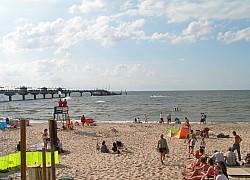 Międzyzdroje, wrześniowa plaża | fot. Huuba