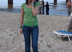 Bałtyku szary piach,zamieniał się w gorący podzwrotnikowy raj.......... | fot. Ania
