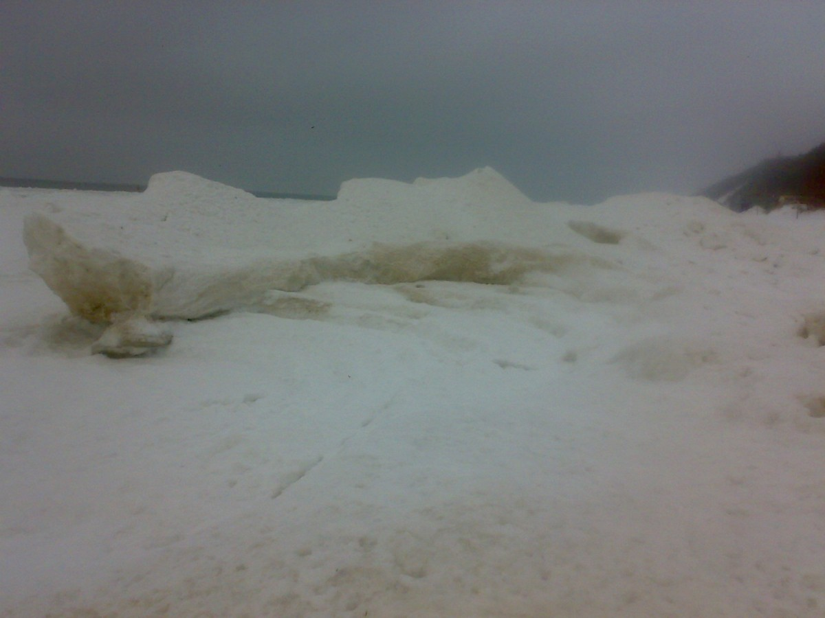 Międzyzdroje, lodowe skały