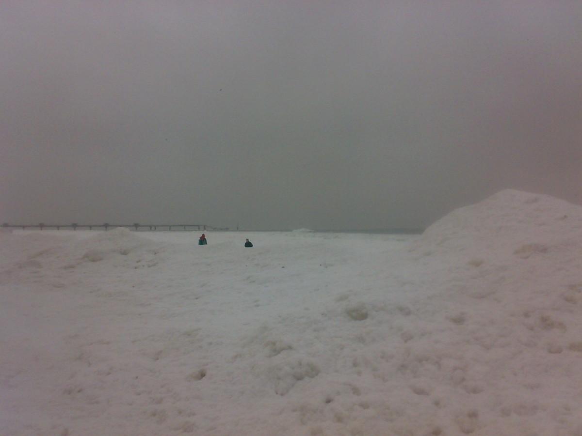 Międzyzdroje, biała góra wzdłuż całego brzegu Bałtyku
