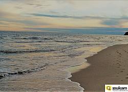 Międzyzdroje plaża - sierpniowy świt | fot.  Li