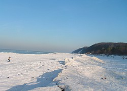 Międzyzdroje,plaża w zimie | fot. Huuba