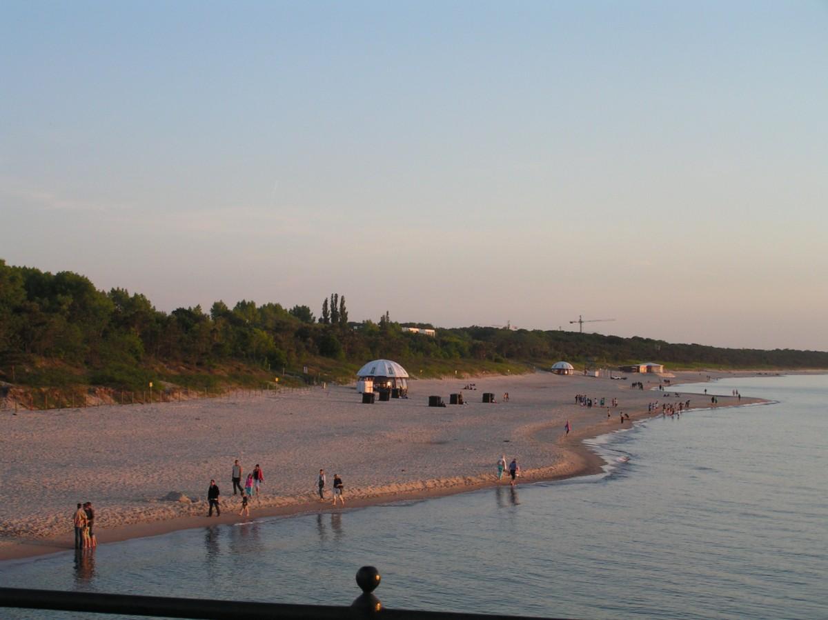 Międzyzdroje, plaża zachodnia