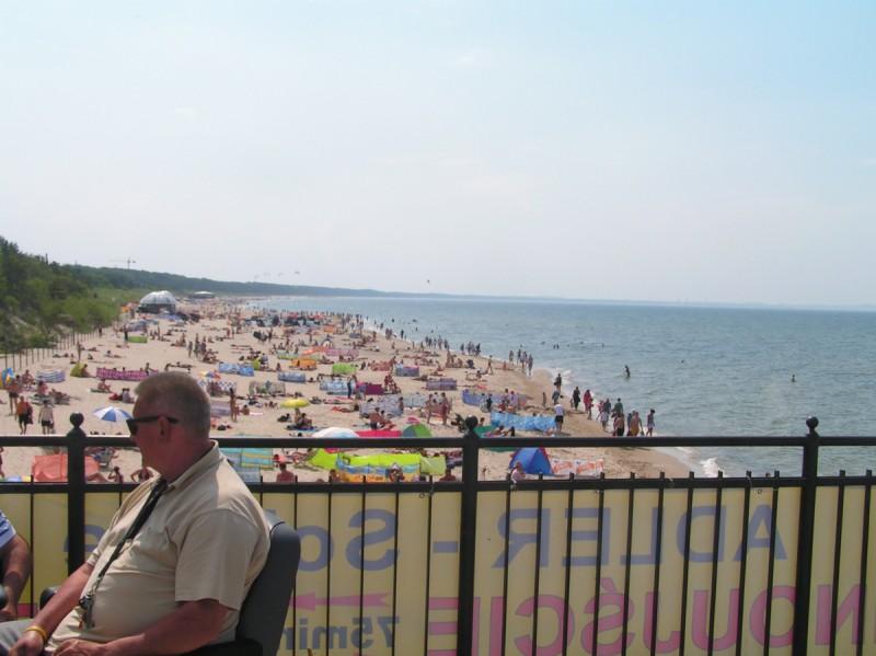 Międzyzdroje - początek lata, plaża zachodnia