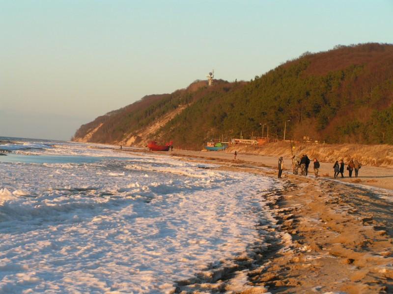 zimowa plaża