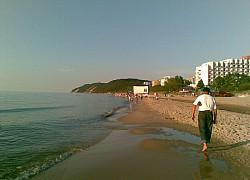Plaża w Międzyzdrojach - wrześniowy wieczór | fot. Huuba