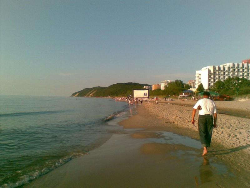 Plaża w Międzyzdrojach - wrześniowy wieczór