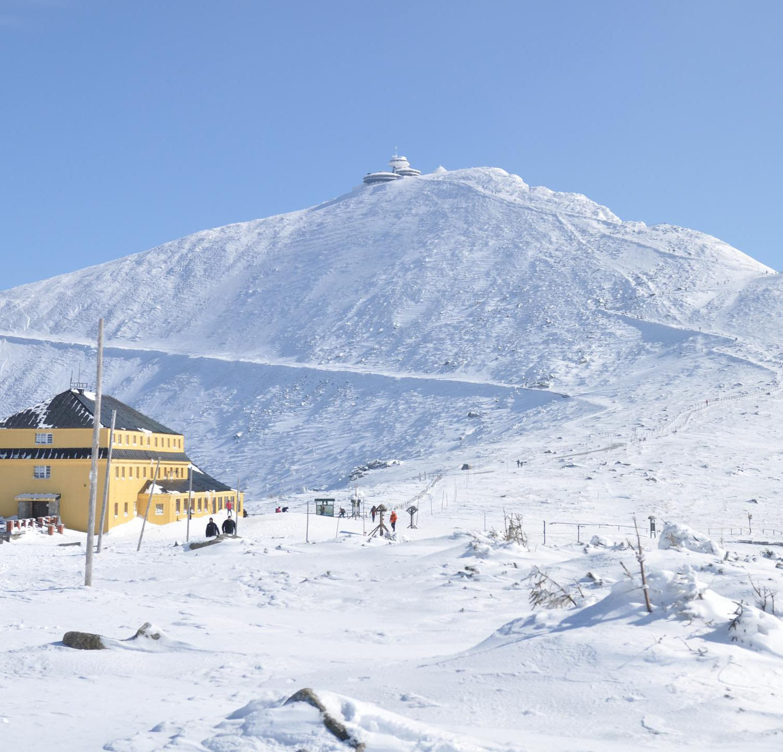 Karpacz Zima Dom Śląski Śnieżka