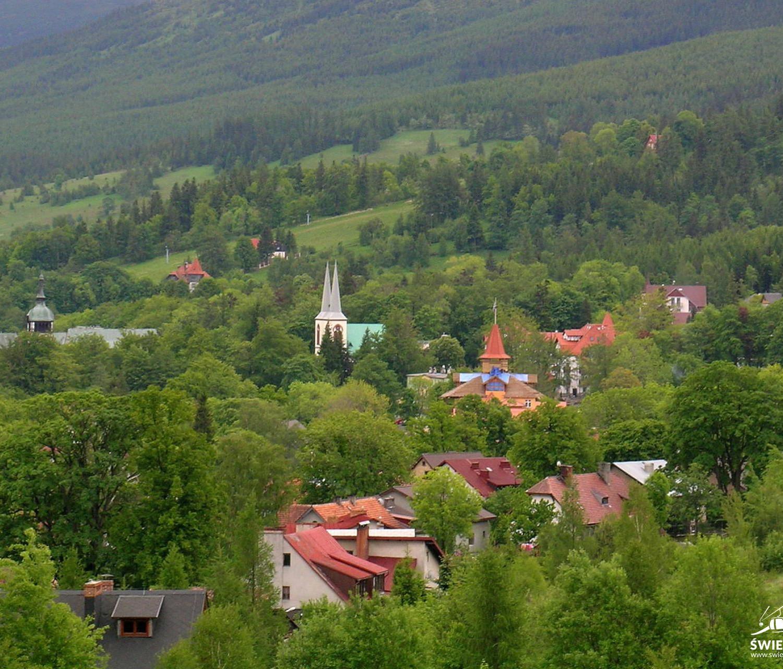 Panorama na Świeradów Zdrój