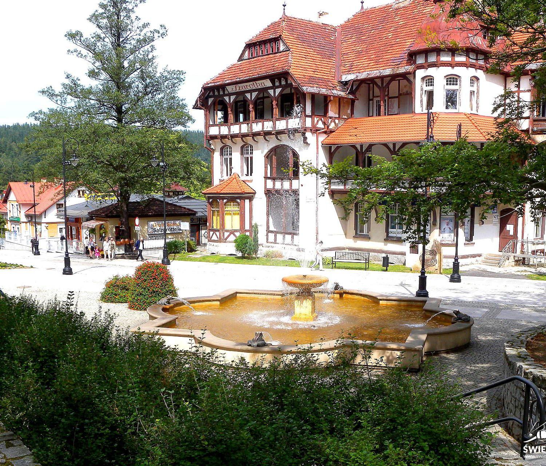 fontanna źabki Swieradów Zdrój