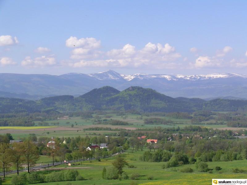 Widok na Sokoliki Góry Kaczawskie