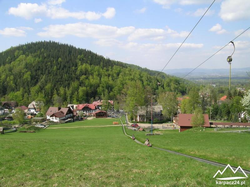 Widok na Karpatkę z Rynny Kolorowa w Karpacz